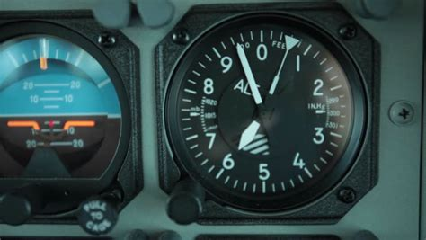 plane dashboard control panel  stock footage video