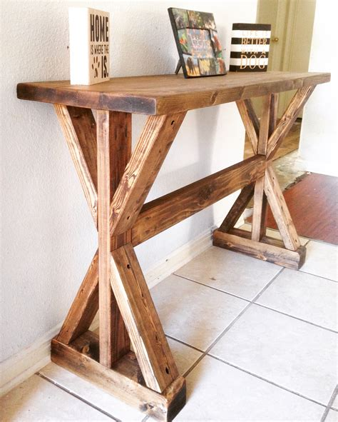 rustic entryway table white rustic x entryway table diy projects