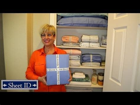 how to organize bed sheets for your linen closets with