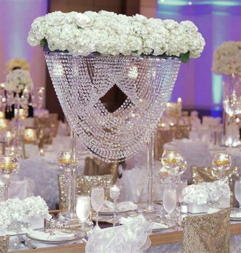 Tall crystal Wedding Centerpiece/crystal wedding cake