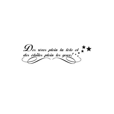 chambre deco nature stickers citation rêves étoiles pas cher accueil
