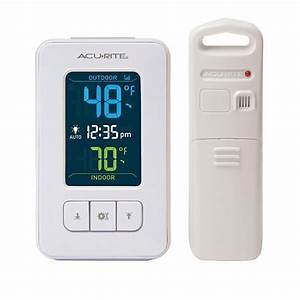 Acurite Wireless Color Digital Indoor Outdoor Thermometer