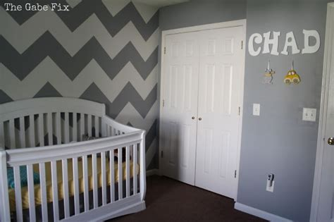 cover letter sample it baby chad s nursery the gabe fix by gabrielle flowers 21165 | gray and white chevron wall