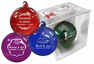 christmas ornament wedding favors hand blown glass With christmas ornament wedding favors