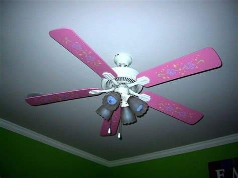 Stenciled Ceiling Fan Girl's Room