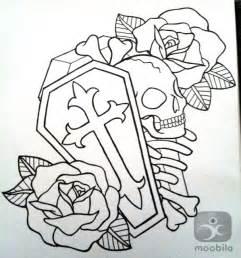 Old School Coffin Tattoo Design