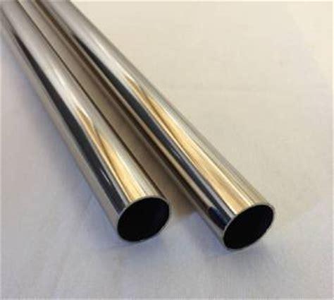 polished chrome heavy duty metal closet clothes rod hanger