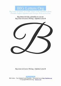 Free coloring pages of fancy cursive letters for Cursive big letters