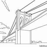 Brooklyn Puente Colorear Bridge Dibujo Dibujos Coloring Drawing Unidos Estados Libertad York Nueva Estatua Avignon France Hellokids Empire Imagen State sketch template