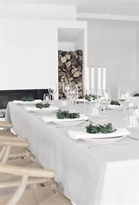 Table De Noel Blanche : 5 jolies id es d co pour une table de noel chic et moderne maison allaert blog ~ Carolinahurricanesstore.com Idées de Décoration