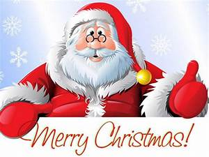 Santa Claus Merry Christmas Greeting Card For New Year ...