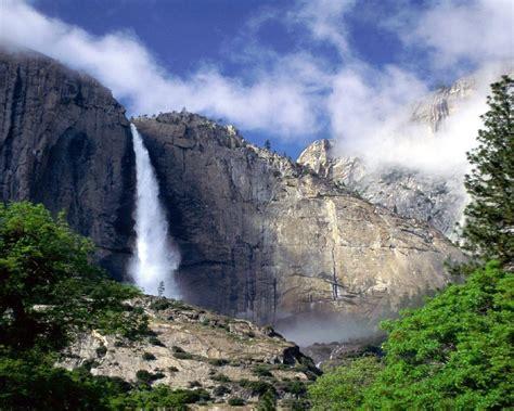 Yosemite Falls Mountains With Granite Rocks