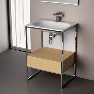 meuble de salle de bains meuble lavabo et vasque With meuble salle de bain 60 cm a poser