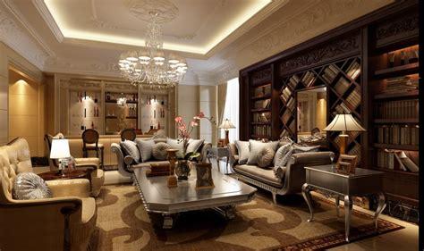rich rennaisance mahogany library living china interior