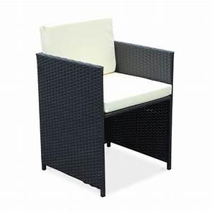Salon De Jardin Encastrable 10 Places : salon de jardin cubo noir table en r sine tress e 6 10 places fauteuils encastrables ~ Medecine-chirurgie-esthetiques.com Avis de Voitures