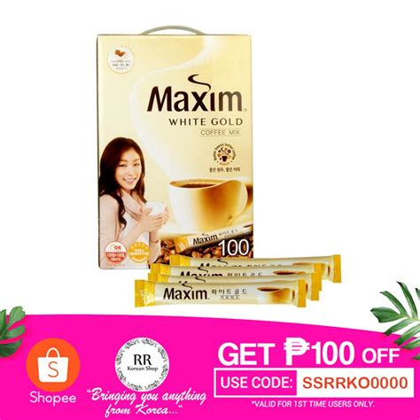 Korea *shipping term the products are shipped directly from korea. Maxim White Gold Mild Coffee Mix | Shopee Philippines