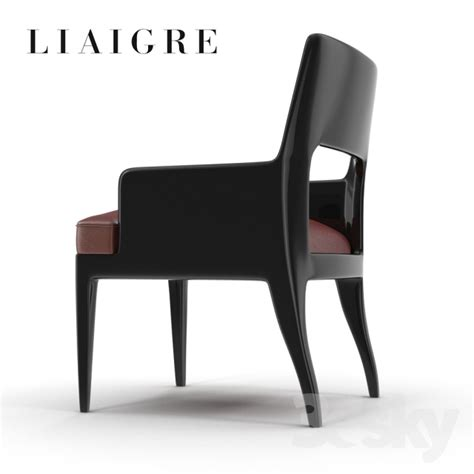 desk furniture 3d models chair christian liaigre musc arm shair