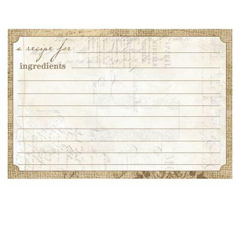 cr gibson recipe card template 4 x 6 recipe cards setting