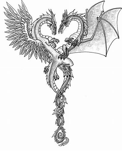 Dragons Drawings Dragon Cool Heart Deviantart Cliparts