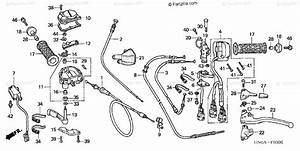 Honda Atv 2003 Oem Parts Diagram For Handle Levers