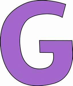 Purple Letter G Clip Art - Purple Letter G Image  G