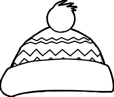 winter snow hat coloring page wecoloringpagecom