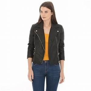 Veste Style Motard Femme : veste style motard collection cuir simili cuir ~ Melissatoandfro.com Idées de Décoration