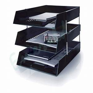 3 x letter filing trays in out risers complete set With desk file letter trays