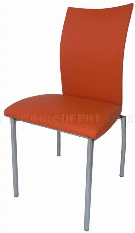 modern orange dining chair interior decoration
