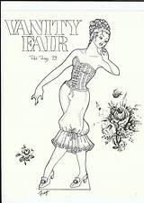 Paper Coloring Vanity Dolls Printable Books Fair Picasaweb Google Frey Pat Pixel Pages sketch template