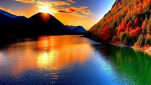 Sunsets Over the Mountains - Beautiful pictures Wallpaper