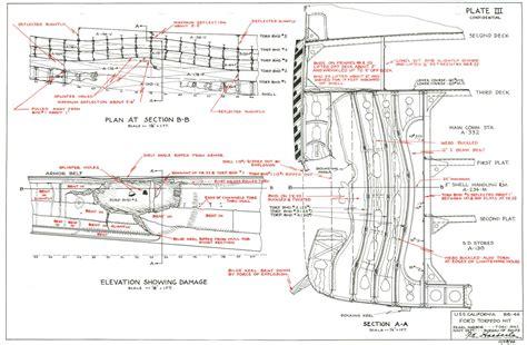 pearl printable deck plans diagram uss arizona diagram free engine image for user