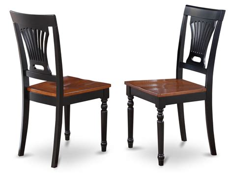 Set Of 2 Plainville Kitchen Dining Chair With Wood Seat