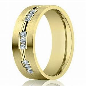6mm designer 14k yellow gold wedding ring for men with With mens designer wedding rings