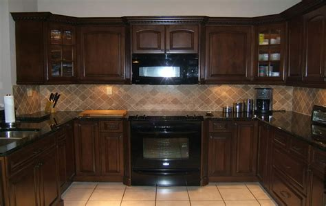espresso kitchen cabinets with black appliances kitchen ideas categories base cabinet pull out shelves 9645