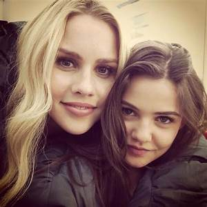 Claire Holt (Rebekah) and Danielle Campbell (Davina) on ...