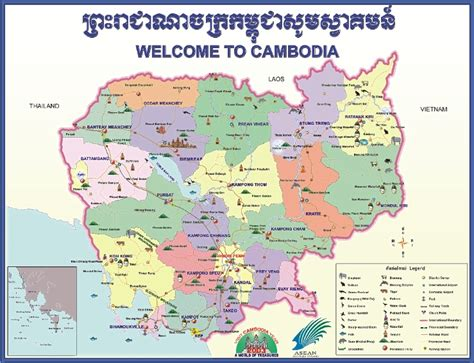 cambodia map cambodia travel information