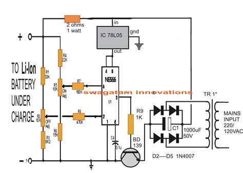 Ion Battery Charger Circuit Using