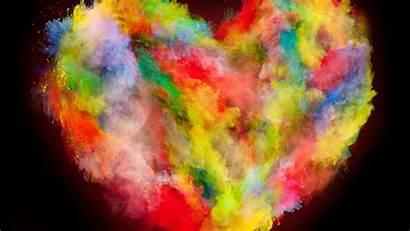 Explosion Colorful Heart Wallpapersmug Background Desktop