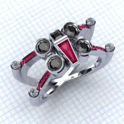 pokeball engagement ring x wing and tie fighter engagement rings is a battlefield technabob