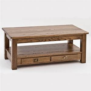 solid oak mission arts and crafts coffee table 43quot the With mission solid oak coffee table