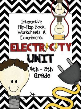 electricity unit interactive book worksheets experiments