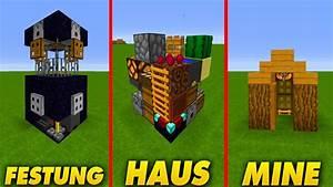 3 KLEINE HÄUSER in MINECRAFT - YouTube  Minecraft