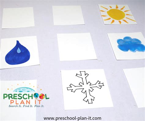 weather theme for preschool 230 | weather theme matchgame