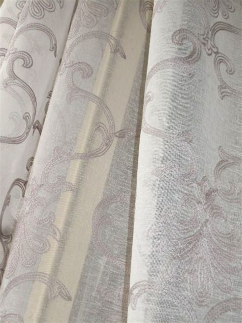 althea silver embroidered sheer drapery fabric