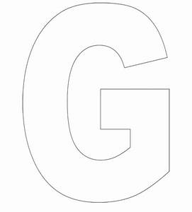 large letter g coloring pages With large letter g