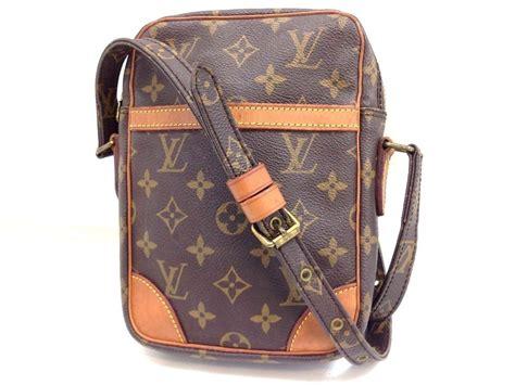 authentic louis vuitton monogram danube pm shoulder bag brown vintage lcb louisvuitton