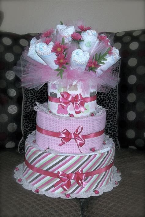 Ee  Diaper Ee   Cake And  Ee  Diaper Ee   Bouquet All In One Weddings And