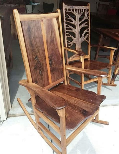 wood rocking chairs omaha shotton woodworks unique