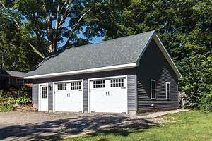 woodstock saltbox style single story garage the barn With 24 by 30 garage